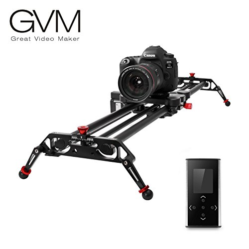 "Camera Slider, GVM 48"" Motorized DSLR Camera Track Dolly Slider Video Stabilizer Rail with Time Lapse Tracking and 120-degree Panoramic Video Shooting, Perfect Photograph Movie Film Making"