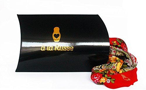 Écharpe bleu oLESIA russe, 100 %  de laine et cachemire et de fleurs de foulard à franges 100 %  original, de très bonne qualité