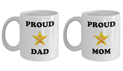Proud Gold Star Parents Mugs - Military Coffee Mug - A Gift For Military Parents (Navy Deployment Care Package Ideas)