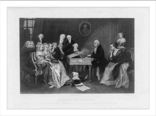 - Historic Print (L): Mozart at Vienna--He plays his opera Don Juan for the fir...