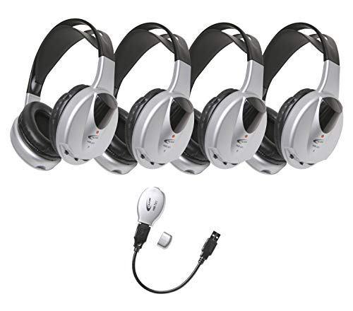 Califone Wireless Headphone - Califone HIR-KT4 Wireless Listening Center, 4 Headphones and 1 USB Cord