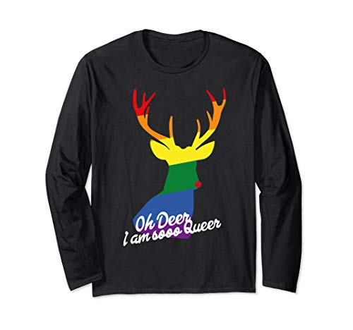 oh deer im queer - LGBT Shirts - Gay Pride Long Sleeve Shirt ()
