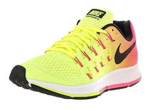 Nike W Air Zoom Pegasus 33 Oc, Chaussures de Running Entrainement Femme Noir / Multicolore