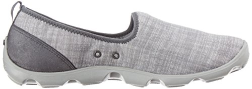 Charcoal Crocs Light Grey Busy Day Chambray Loafer Womens Shoes Skimmer OqOZ08