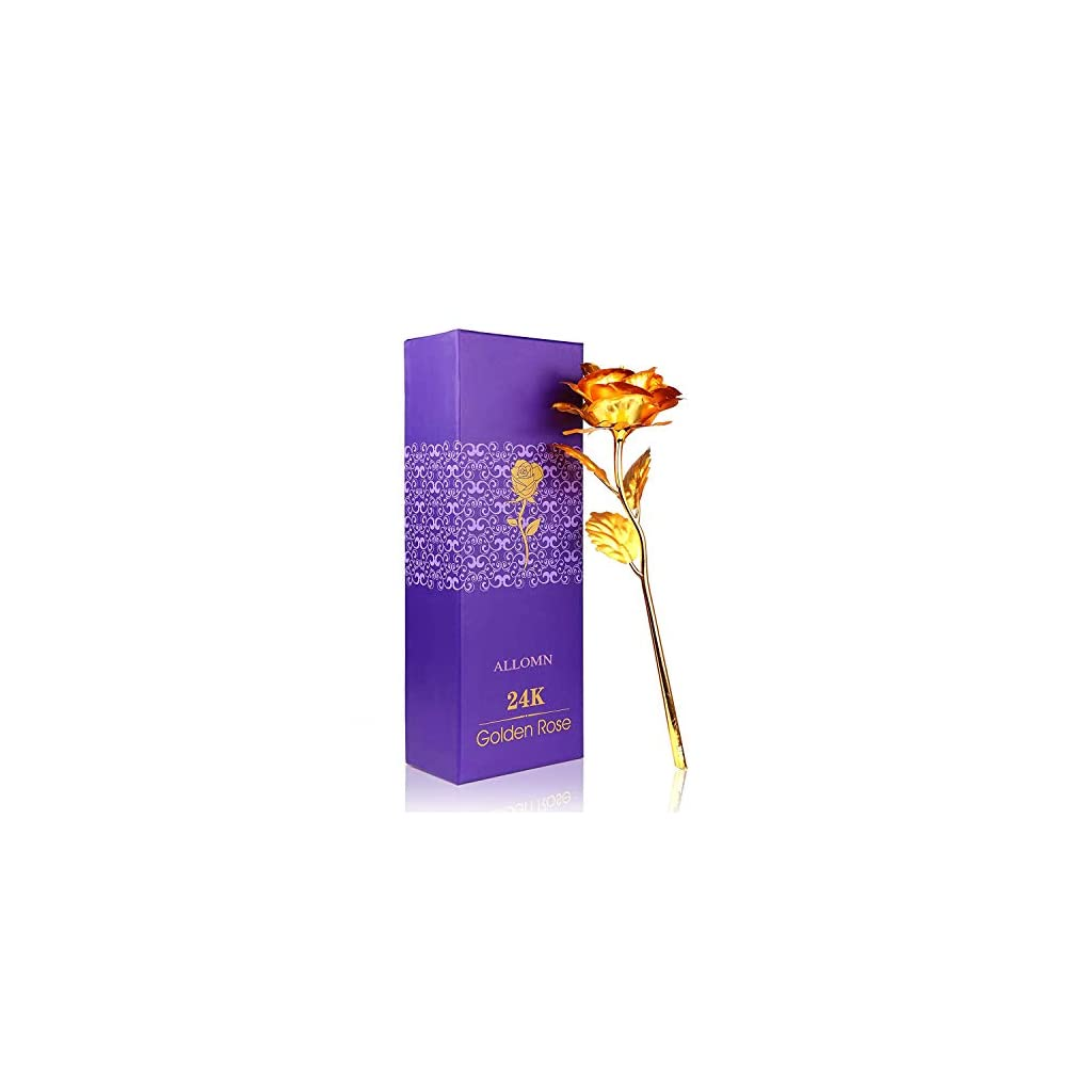 ALLOMN-24K-Golden-Rose-Plastic-Long-Stem-Real-Rose-Dipped-in-Gold-with-Gift-Box-Best-