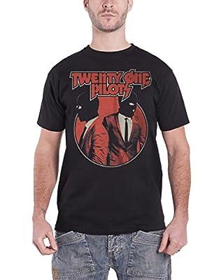 Twenty One Pilots T Shirt Incognito Masked Band Logo Official Mens Black