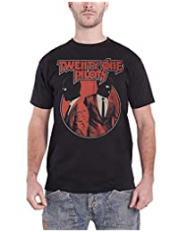 Twenty One Pilots T Shirt Incognito Masked Band Logo Official Mens New Black