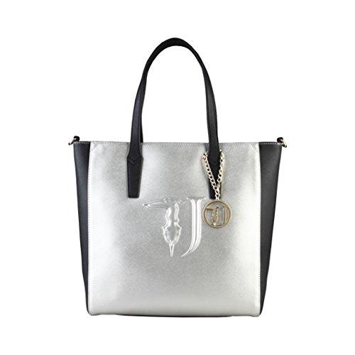 Trussardi Damen Shopper mit Henkel Weiß/Braun