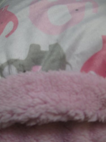 (Baby Girl Soft Pink and Gray Elephant Blanket)