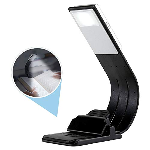 LED Book Light Portable Clip Book Reading Light USB Rechargeable Book Reading Lamp with Eye-Care Brightness for Book, iPad and Outdoor Lighting