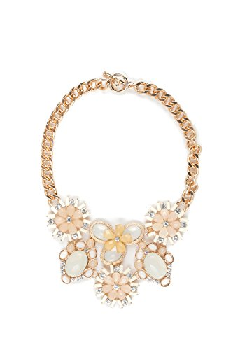 [Flower Bib Necklace Choker Collar Chunky Curb Chain Statement Necklaces For Women (yellow, golden,] (Tangled Costume Ideas)