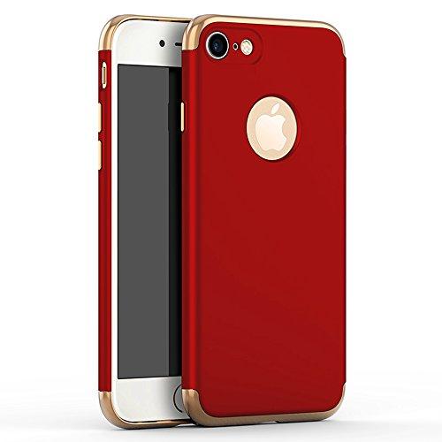 iPhone 5 Funda,iPhone 5S Funda,iPhone SE Funda,Case[Silky]Alta Calidad Ultra Slim Anti-Rasguño y Resistente Huellas Dactilares Totalmente Protectora color de la galjanoplastia Duro Funda(SJLC3-4) E