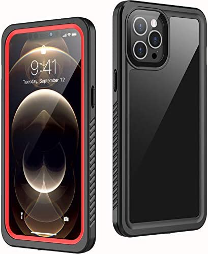 Temdan Compatible with iPhone 12 Pro Max Case Waterproof,Clear Sound Quality Built in Screen Protector IP68 Waterproof Full Body Heavy Duty Shockproof Case for iPhone 12 Pro Max 6.7 inch (2020)