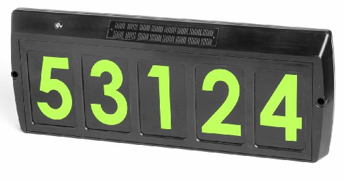 gama sonic solar illuminated address sign green led gs80g