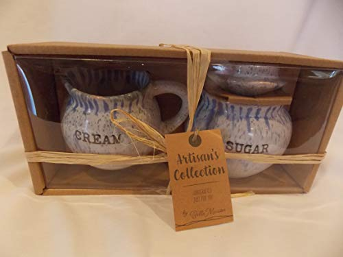 Cream and Sugar Bowl and Pitcher Two Piece Gift Set