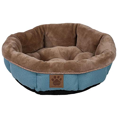 Precision Pet SnooZZy Rustic Elegance Round Shearling Bed Teal