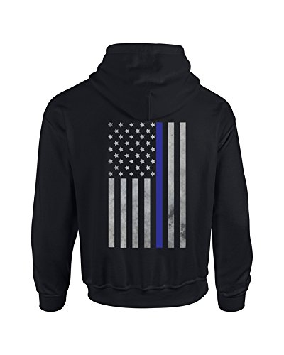 Police Blotter Thin Blue Line Vertical Hoodie For Law Enforcement/Leo Support