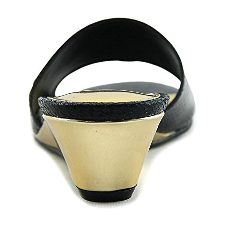 Toe Black Slide Sandals Open Thalia Casual Riya Sodi Womens Fabric qzABX
