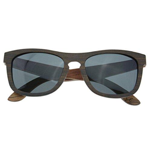 Madera Gafas Sol De HAOYUXIANG De Recubrimiento Sol Artesanal Gafas Vintage Polarizadas Bambú Ebony Ebony 8HTxTzw
