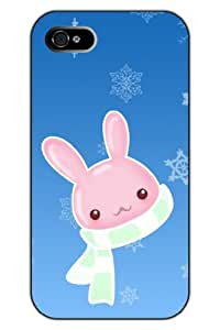 SPRAWL New Fashion Design Hard Skin Case Cover Shell for Mobile phone Apple Iphone 5 5S--scarf pink rabbit