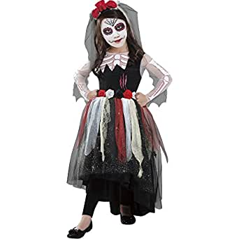 Goodmark Girls' Day of the Dead Costume (Large 10/12)