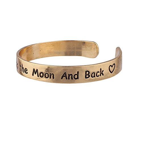 Lux Accessories I Love You to The Moon & Back Heart Cuff BFF Best Friends Bracelet