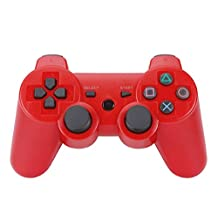 podofo Bluetooth Wireless Game Controller for PS3 (Red)