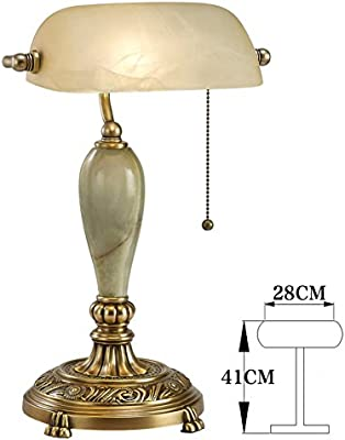 Full Brass Lamp American Retro Table Lamps Pastoral Bedside