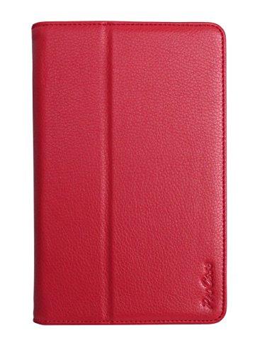 ProCase Nexus 7 Slim Leather Folio Cover Case For Google Nexus 7 Tablet with Auto Sleep/Wake (Red, Flip Stand Case)