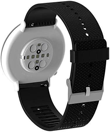 RETYLY 20mm シリコン時計バンド ブレスレットストラップ Polar Ignite用 スマートウォッチアクセサリー 時計ストラップ リストバンド ブラック