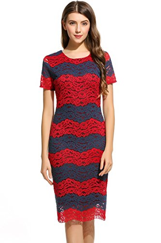ANGVNS Womens Sleeve Evening Cocktail