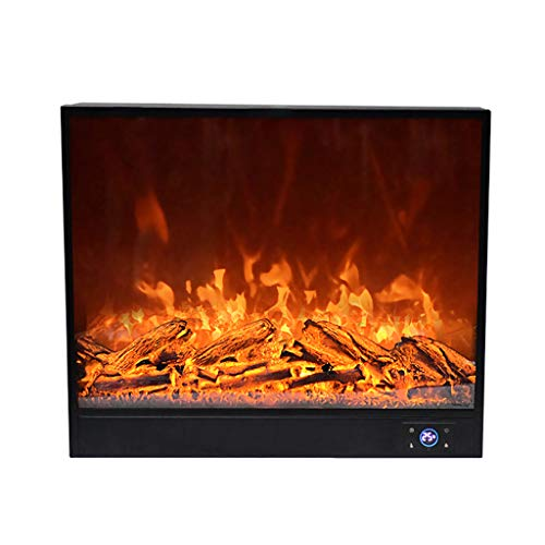 Cheap Electric Fireplaces ADKINC 32 Inches Recessed Wall Mounted with 7-Speed Temperature Adjustment Log Set & Crystal 1500W Heater Black Black Friday & Cyber Monday 2019