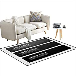 """Kids Carpet Playmat Rug Web Banner Header Layout Template with Abstract Black Triangle Pattern Background 55""""x66"""""""