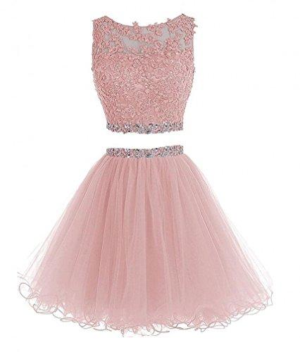 formal blush pink dress - 5