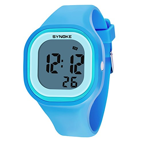 SYNOKE Kid's Digital Timing Multifunctional Luminous Waterproof A jelly Sport watch