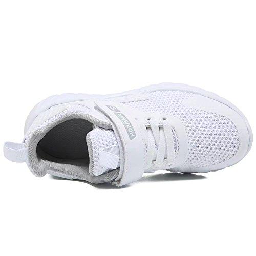 GUBARUN Kids Running Shoes Boys and Girls Lightweight Comfortable Walking Sneakers(12.5, White) by GUBARUN (Image #5)