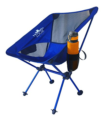 Nomad Logik blue backpacking chairs ultralight lightweight backpacking chair ultralight backpacking chair folding camp chair, cup holder bag rv beach, tailgating, sports, hiking, trail, picnic, adults