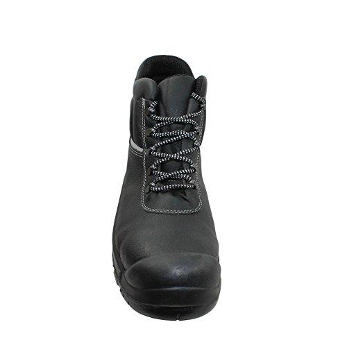 Ergos - Calzado de protección de Piel para hombre negro negro, color negro, talla 41