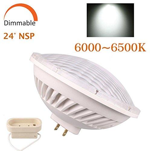 BAOMING PAR56 LED BULB 26W Dimmable Cool White (6000~6500K) SMD LED Light 24°Beam Angle Replace A Standard PAR-56 300 Watt Light AC/110~130V Base Type: (Par 56 Light)