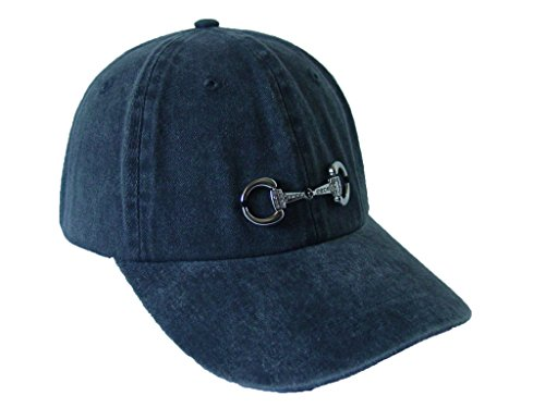 Baron Snaffle Bling Bit Equestrian Accent Ball Cap Pigment Dry One Size (Black)