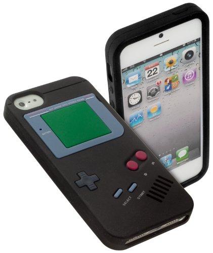 yayago Schutzhülle für Apple iPhone SE Hülle Retro Gameboy Design Schwarz