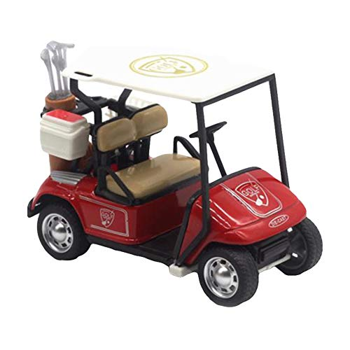 xxiaoTHAWxe Golf Cart Toy, 1:36 Scale High Simulation Golf Cart Model Children Pull Back Toy Collection - Red