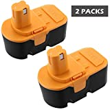 Keepower P100 Replacement Battery for Ryobi 18V 3.0Ah Cordless Power Tools 2 Packs Ryobi 18v battery for Ryobi One Plus P100 P101 130224028 130224007 130255004 ABP1801 ABP1803