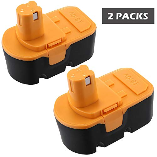 Keepower P100 Replacement Battery for Ryobi 18V 3.0Ah Cordless Power Tools 2 Packs Ryobi 18v battery for Ryobi One Plus P100 P101 130224028 130224007 130255004 ABP1801 ABP1803 by Keepower