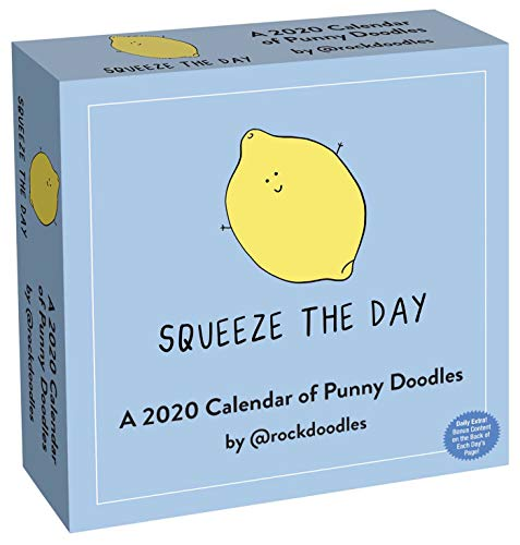 A 2020 Day-to-Day Calendar of Punny Doodles: Squeeze the Day