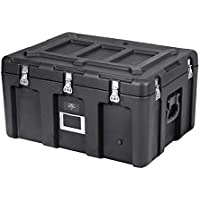 Monoprice Rotomolded Weatherproof Case - Black (29 x 21 x 16 inches) Stackable, with Customizable Foam - Pure Outdoor Collection