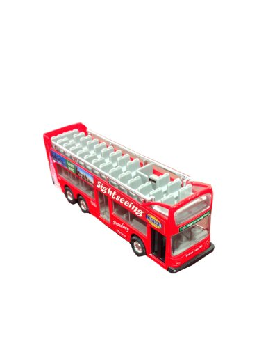 "Die Cast Metal 6"" NYC Sightseeing City Tour Red Double Bus P"