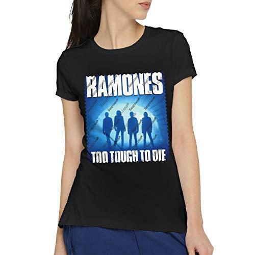 (URAHARA Women's Ramones Too Tough to Die Casual Short Sleeve Fashion T-Shirt Cotton Round Neck Tees Blouse Tops XXL)