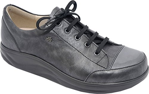 Finn Comfort Mujeres Ikebukuro Oxford Black / Stone Nappa Leather