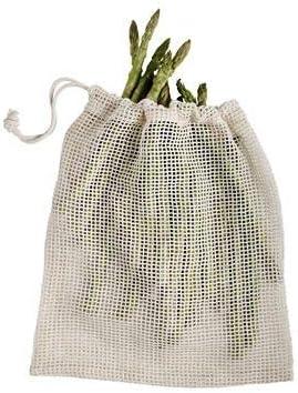 3 bolsas de red de algodón sin blanquear para alimentos: Amazon.es ...